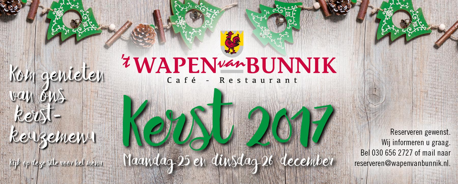 Kerstmenu 2017 - 't Wapen van Bunnik