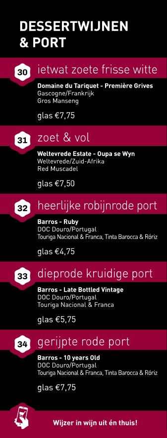 't Wapen van Bunnik - Cellar33 - Dessertwijnen & Port